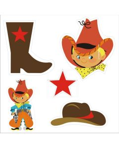 Little Cowboy Theme Cutouts