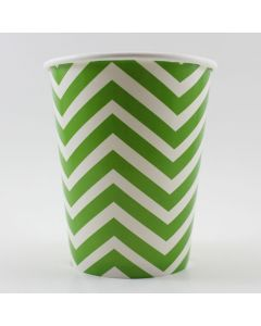 Green Chevron Paper Cups