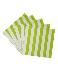 Green Striped Paper Napkins