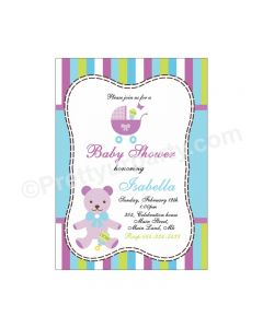 Purple and Green E-Invitations