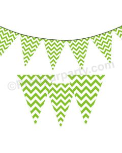 Green Chevron Bunting