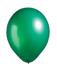 green metallic latex balloon