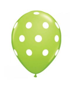 big polka dots latex balloon - green