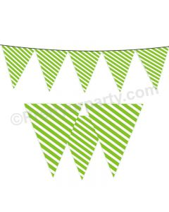Green Stripes Bunting