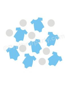 Blue and Grey Onesie Baby Shower Confetti