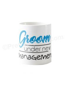 Personalized Groom Under Management Bridal Shower Mug