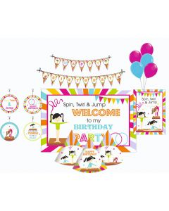 Gymnastics Party Decorations Package - 70 pieces