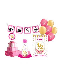 Half Birthday Decorations for Girls