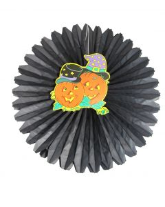 Halloween Pumpkin Paper Fan