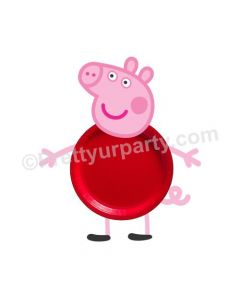 Peppa pig Handcrafted Paper Plates