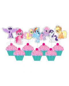 My Little Pony Diecut Cupcake Toppers