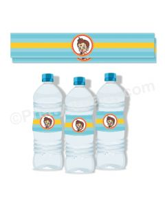 Hanuman Theme Water Bottle Labels