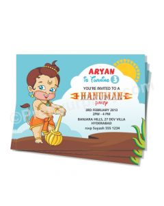Hanuman Theme Invitations