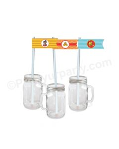 Hanuman Theme Drink Straws