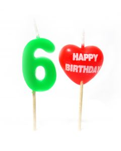 Happy Birthday 6 No. Candle