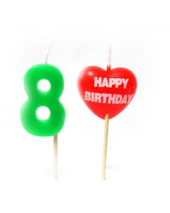 Happy Birthday 8 No. Candle