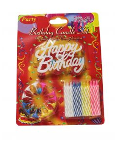 Happy Birthday Spiral Candles