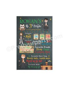 Harry Potter Theme Chalkboard Poster