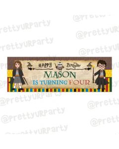 Personalized Harry Potter Birthday Banner 36in