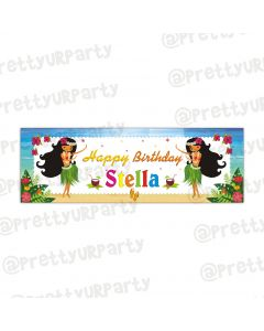 Personalized Hawaiian banner
