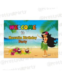 Hawaiin Entrance Banner / Door Sign