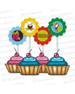 Hawaiin Cupcake / Food Toppers