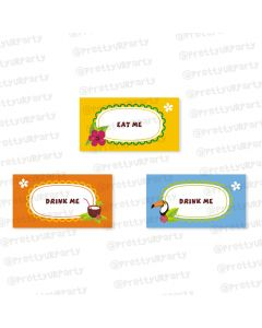 Hawaiin Food Labels / Buffet Table Cards
