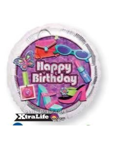 "anagram 18"" glitzy glamour happy birthday balloon"
