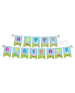 Peppa pig Happy Birthday Bunting