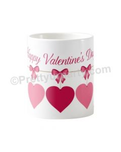 Happy Valentines Hearts and Bows Mug