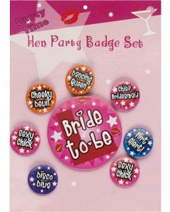 Colourful Hen party Badges