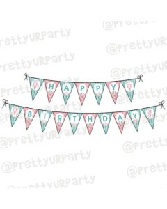 Hot Air Balloon Theme Bunting