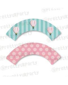 Hot Air Balloon Theme Cupcake Wrappers