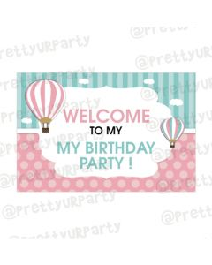 Hot Air Balloon Theme Entrance Banner / Door Sign