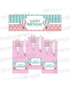 Hot Air Balloon Theme Napkin Rings