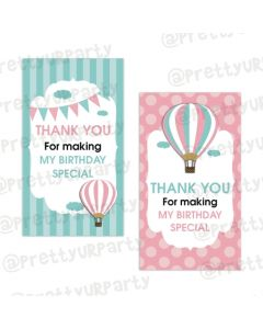 Hot Air Balloon Theme Thankyou Cards