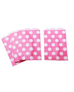 Hot Pink Polka Dot Favor Bag