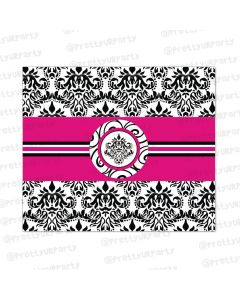 Hot Pink Damask Chocolate Wrappers