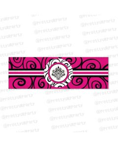 hot pink damask theme wrist bands