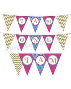 I am one bunting for girls