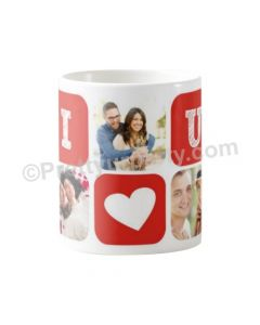 Happy Valentines I Love You Photo Mug