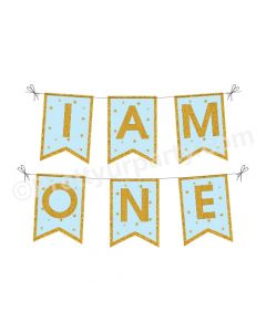 Twinkle Twinkle Little Star Boy Handcrafted I am One Bunting