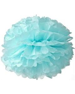 Light Blue Tissue Paper Pom Poms