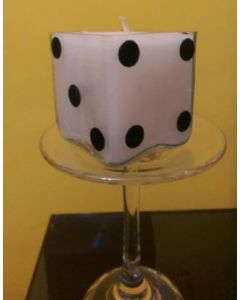 Glass Dice shaped candles