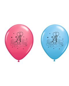 Printed Latex Peppa Pig Balloons