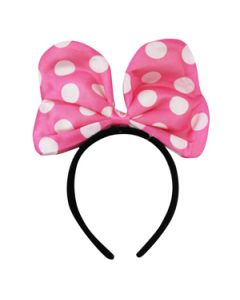 minnie mouse light pink bow headband
