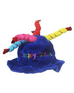 dark blue happy birthday candles cap small