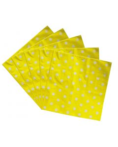 Yellow Polka Dot Paper Napkins