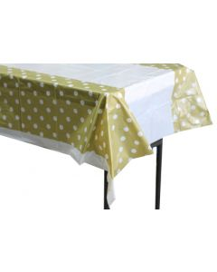 Gold polka dots table cover
