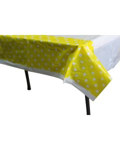 Yellow Polka Dots Table Cover